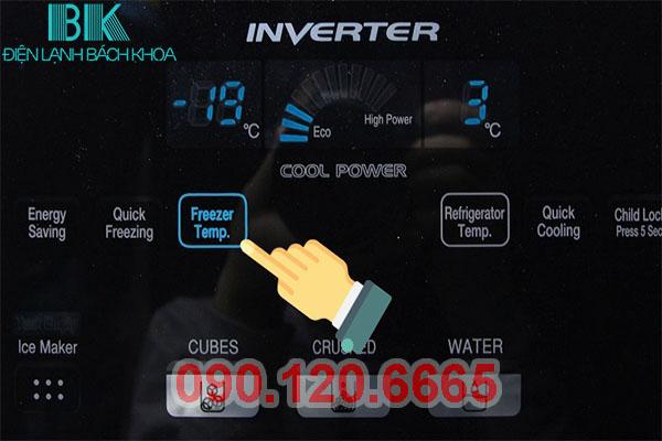 Tủ lạnh Hitachi báo lỗi Tank Empty trên màn hình hiển thị