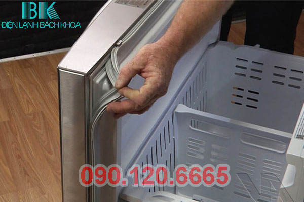 tủ lạnh samsung bị hở gioăng