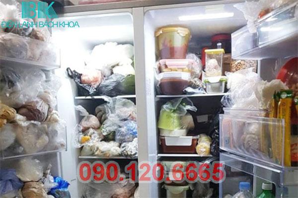 tủ lạnh sanyo chữa nhiều thực phẩm
