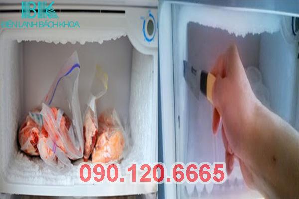 tủ lạnh bị đóng tuyết ở ngăn đá 1