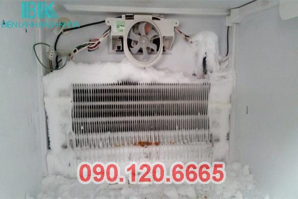 tủ lạnh bị đóng tuyết ở ngăn đá 2